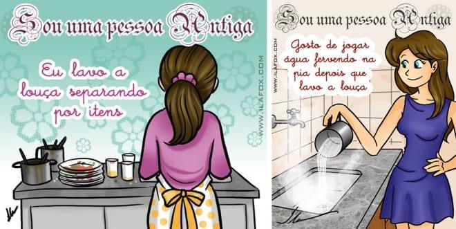crônicas de uma dona de cozinha - lavando louça