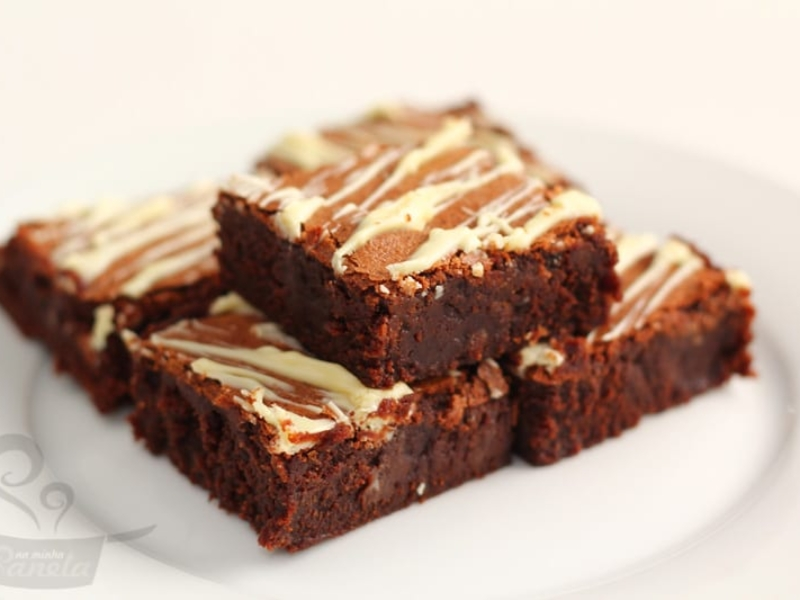 brownie com chocolate extra