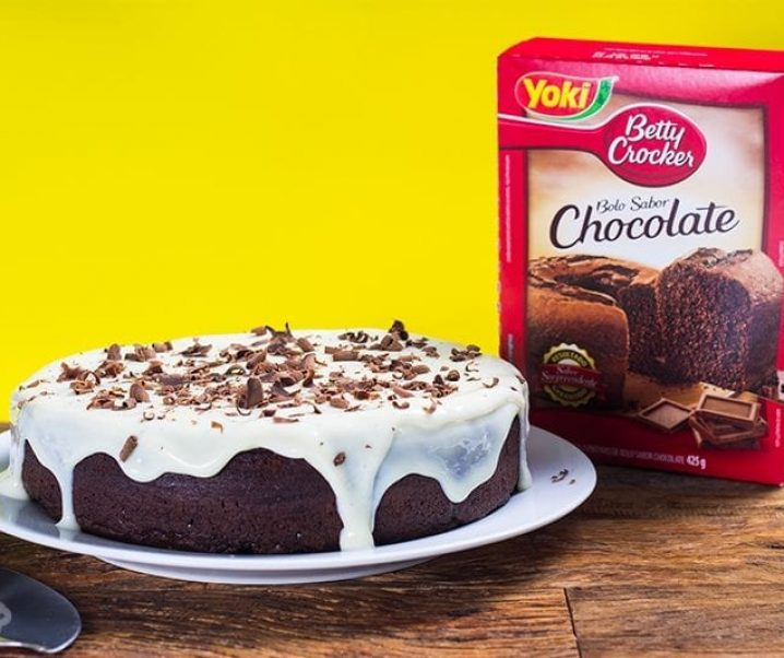 bolo de chocolate Yoki Betty Crocker