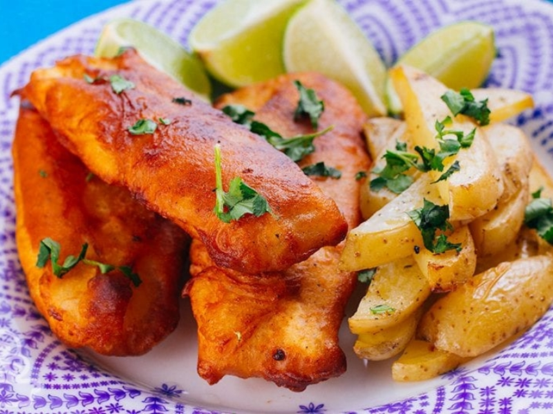 Fish and chips – Peixe empanado com batatas