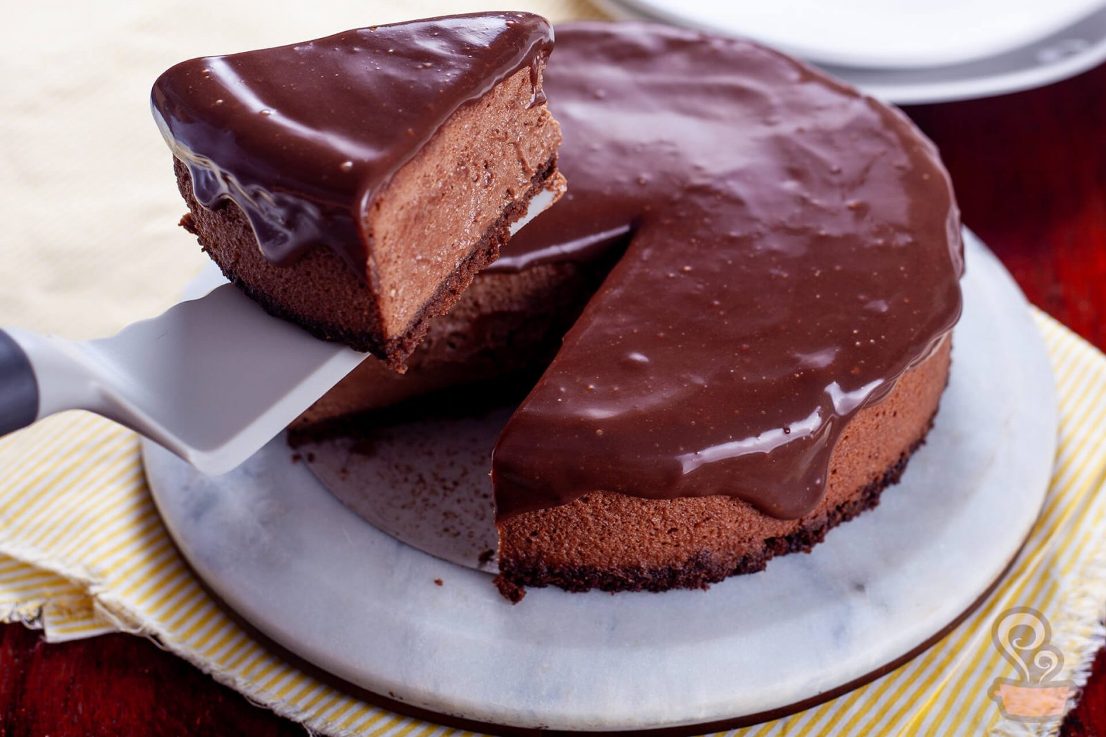 Cheesecake de chocolate - naminhapanela.com -